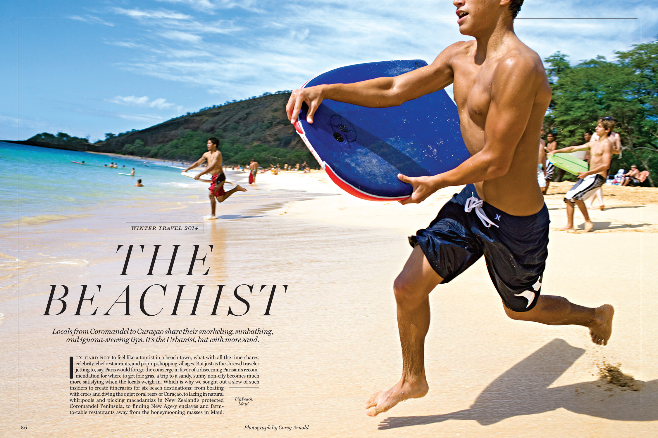 Bodyboarding on Big Beach, Maui, Hawaii.  New York Magazine, October 17, 2014 Photo: Corey Arnold