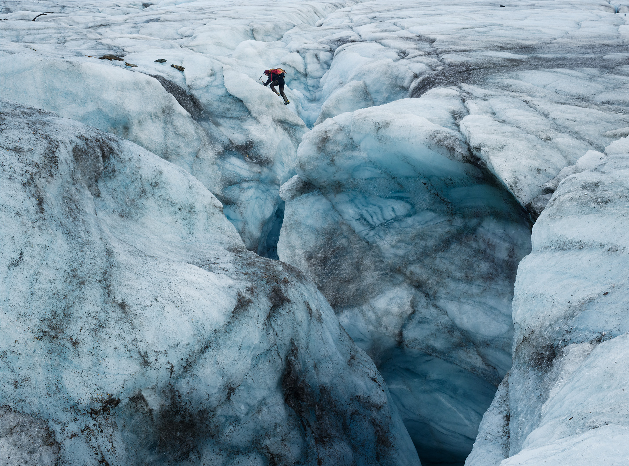 svalbard, glacier, iceberg, project pressure, ice, climate, change, corey arnold, coreyfishes, hornsund, norge, norway, photography, exhibition, crevasse, climber, climbing, hansbreen